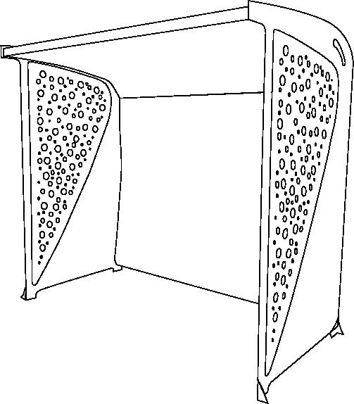 Abribus Signus Simple en Acier contour noir