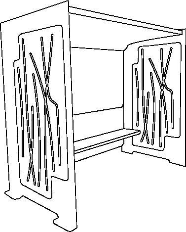 Abri voyageur Cubus en Acier logo Hettange-Grande contour